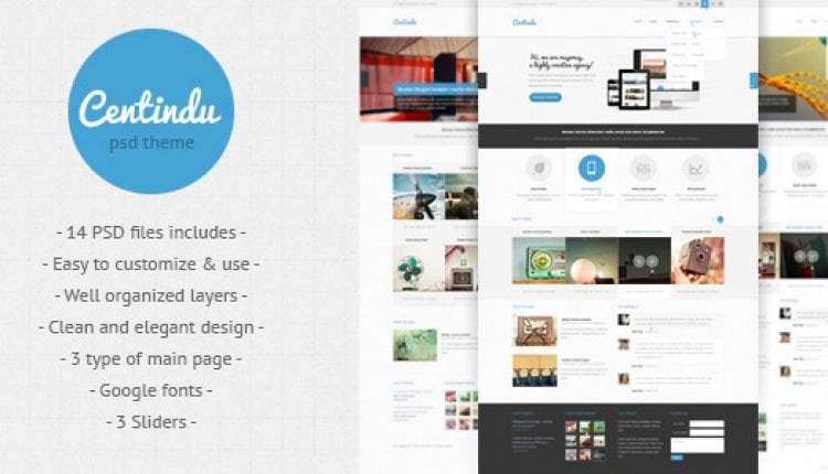 Centindu – clean and modern PSD template | Prosyscom Tech