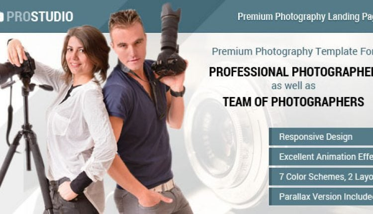 Professional Photography Responsive Landing Page | Prosyscom Tech
