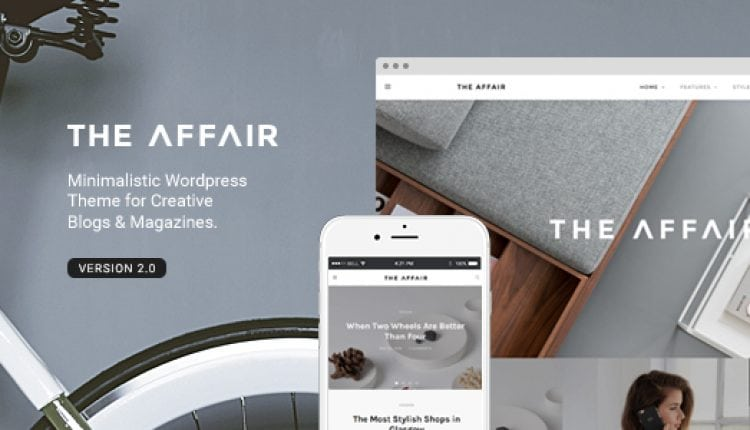 The Affair – Creative Theme for Personal Blogs and Magazines | Prosyscom Tech