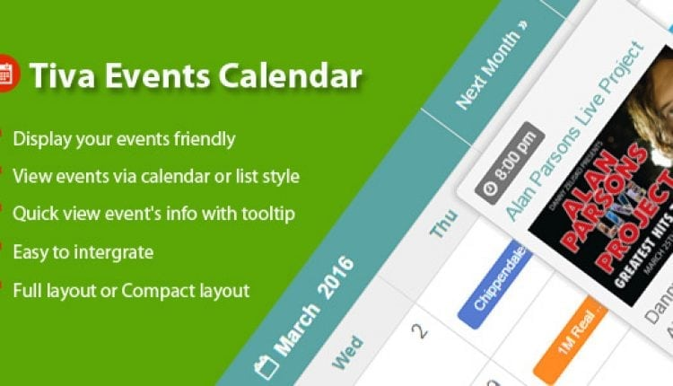 Tiva Events Calendar For PHP | Prosyscom Tech