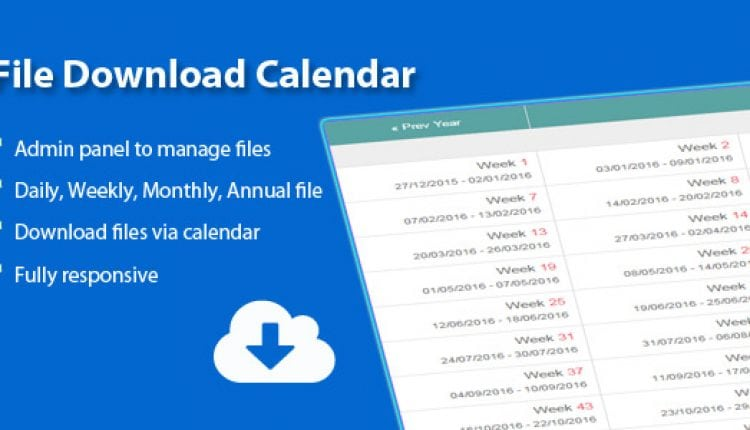 File Download Calendar | Prosyscom Tech