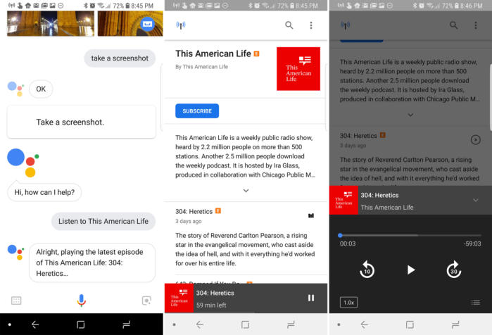 google assistant podcasts