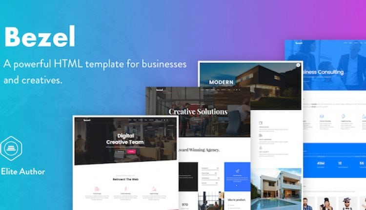 Bezel – Creative Multi-Purpose HTML Template | Prosyscom Tech