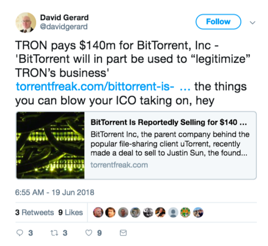 Tron Bought BitTorrent And Crypto Won't Stop Talking | Tech News 7