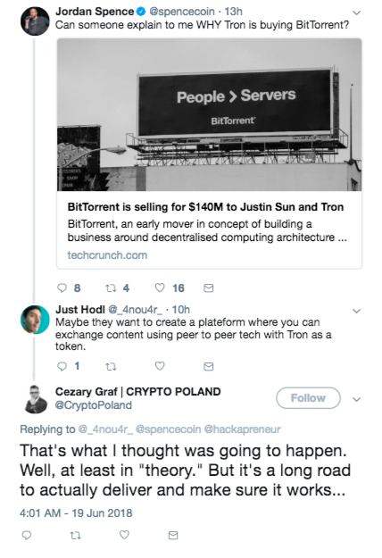 Tron Bought BitTorrent And Crypto Won't Stop Talking | Tech News 3