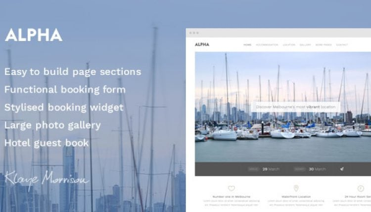 Alpha Hotel – Website Template | Prosyscom Tech