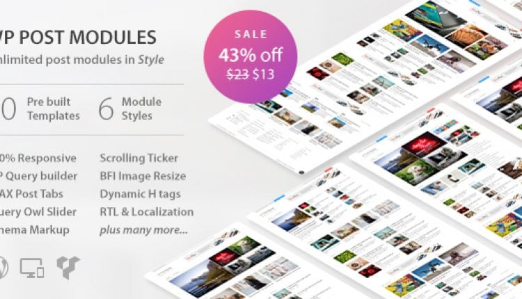 WP Post Modules for NewsPaper and Magazine Layouts | Prosyscom Tech