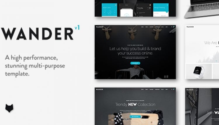 Wander | The Multi-Purpose Template | Prosyscom Tech