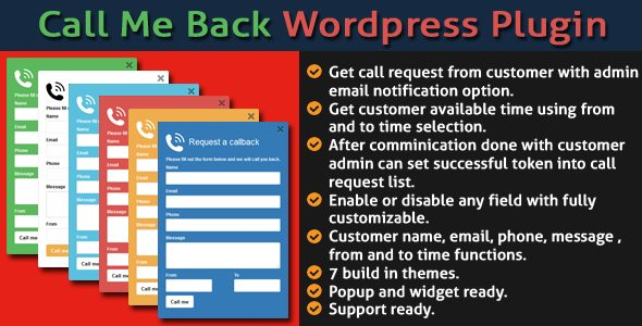 Call Me Back WordPress Plugin | Prosyscom Tech 1