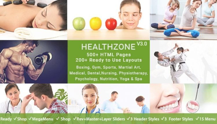 HealthZone – Daring Multi Concept HTML5 Template for Medical, Nursing, Yoga, Sports, Gym & Fitness | Prosyscom Tech