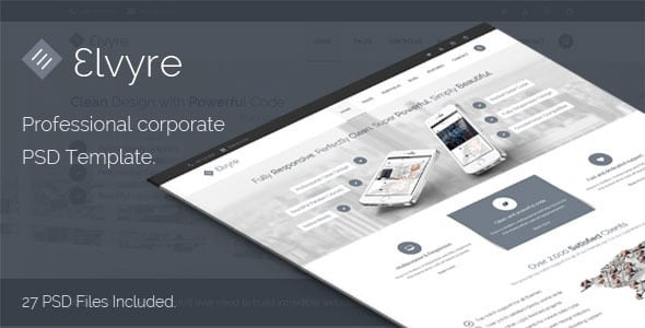 Elvyre Professional Corporate PSD Template | Prosyscom Tech