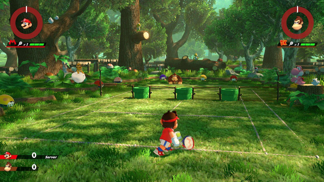 Mario Tennis Aces court