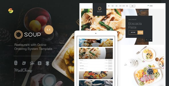 Soup – Restaurant with Online Ordering System Template | Prosyscom Tech