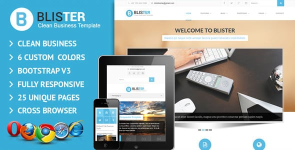 BLISTER Clean & Business Site Template | Prosyscom Tech