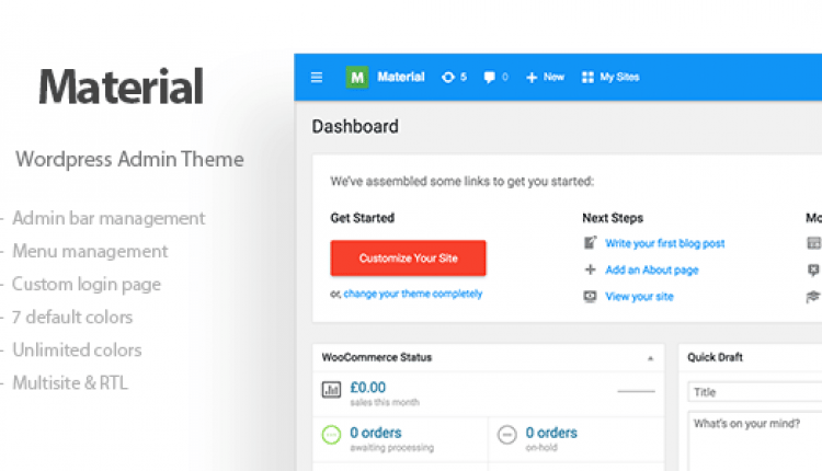 Materil – WordPress Material Design Admin Theme | Prosyscom Tech