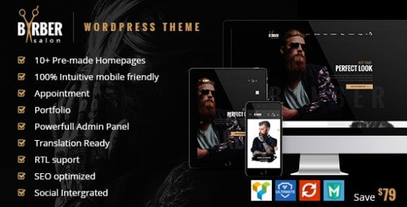 Barber – Hair, Tattoo & Beauty Salons WordPress Theme | Prosyscom Tech