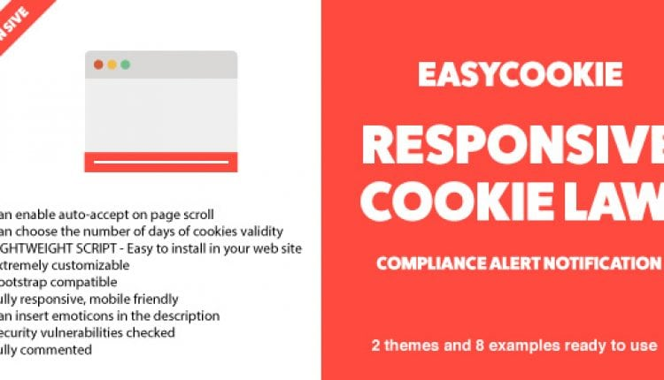 EasyCookie – GDPR Responsive Cookie Law Compliance Alert Notification | Prosyscom Tech