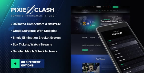 PixieClash | eSports gaming theme for tournaments & competitions | Prosyscom Tech
