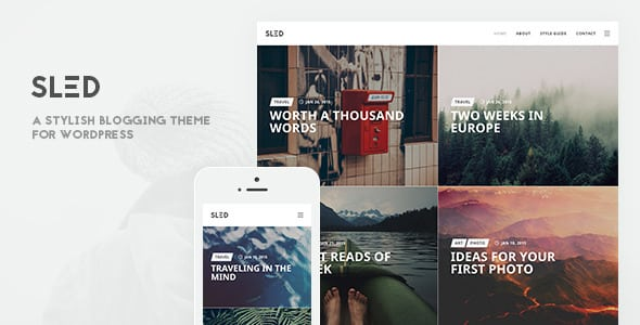 SLED – A Stylish Blogging Theme for Sharing Stories | Prosyscom Tech
