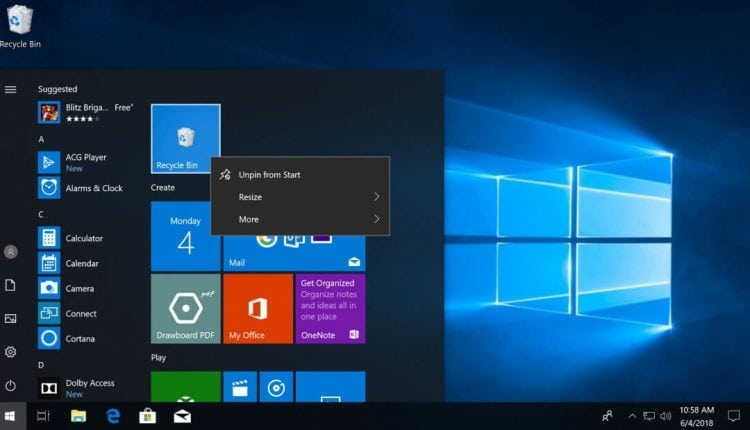 Where is the Windows 10 Recycle Bin? Removing it from the desktop & putting it elsewhere | Tech News