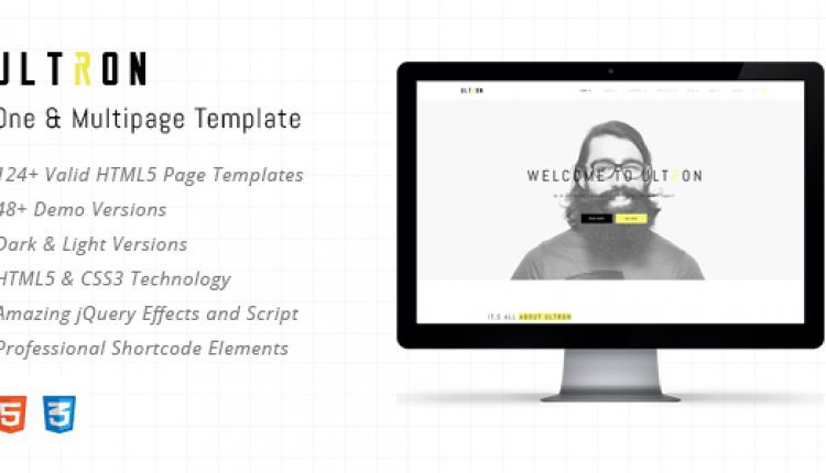 Ultron – Responsive One & Multi Page HTML Template – Prosyscom Tech