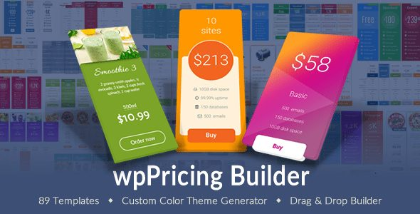 WP Pricing Table Builder - Responsive Pricing Plans Plugin for WordPress | Prosyscom Tech 1