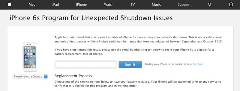 Apple repairs & recall programmes: Check serial number