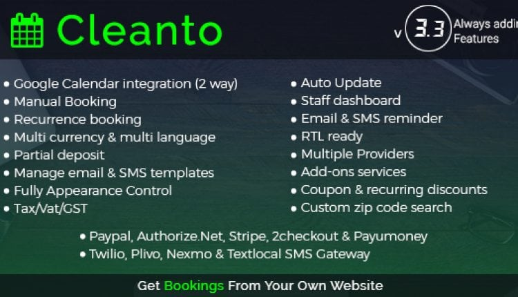 Cleanto – Online Bookings for Cleaning Businesses | Prosyscom Tech