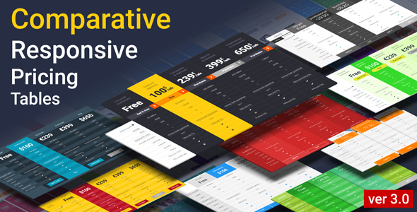 Comparative Responsive Pricing Tables | Prosyscom Tech 1