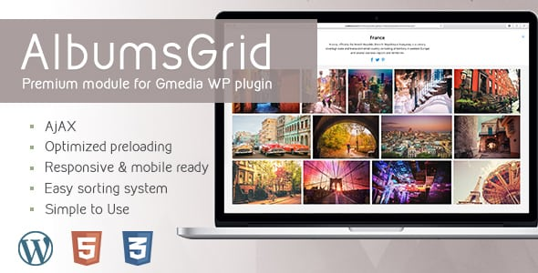 AlbumsGrid 3.2 | Gallery Module for Gmedia plugin | Prosyscom Tech