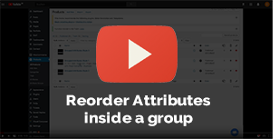 Reorder Attributes inside an attribute Group