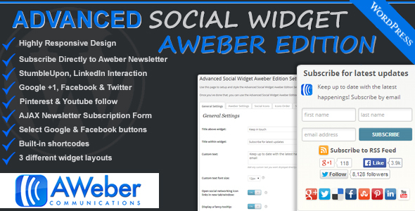 Advanced Social Widget Aweber Edition | Prosyscom Tech