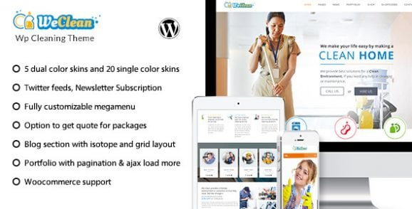 We Clean – Cleaning Business WordPress Theme | Prosyscom Tech