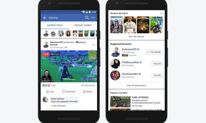Facebook takes on YouTube, Twitch, and Mixer with a game broadcast channel | Tech News