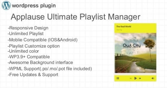 Applause Ultimate Playlist Manager WP Plugin | Prosyscom Tech