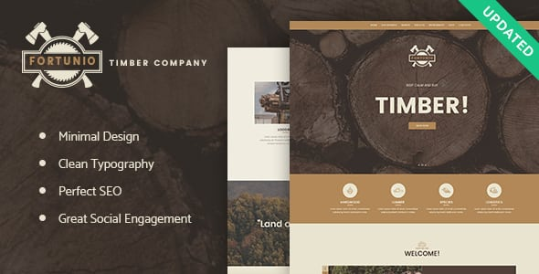 Fortunio – Timber / Forestry / Wood Manufacture WordPress Theme | Prosyscom Tech