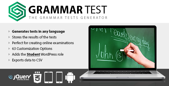 Grammar Test | Prosyscom Tech