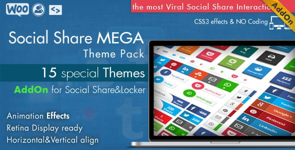 Social Share Mega Theme Pack – WordPress | Prosyscom Tech