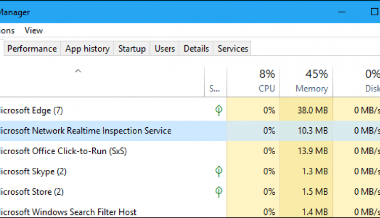 """What is """"Microsoft Network Realtime Inspection Service"""""""