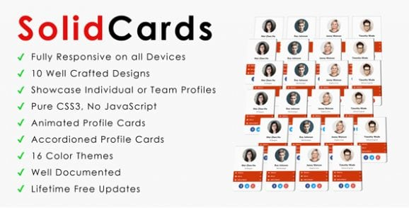 SolidCards | CSS3 Responsive Profile Cards | Prosyscom Tech