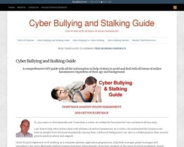 Cyber Bullying and Stalking Guide : Cyber Bullying and Stalking Guide | Digital Market