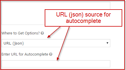 URL (json) source for autocomplete