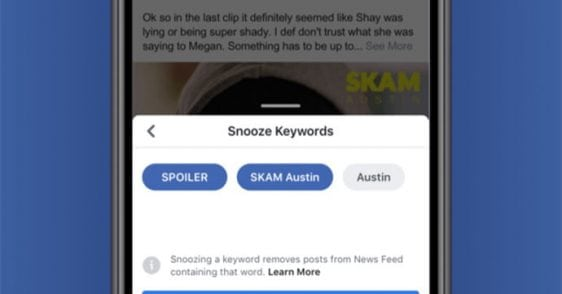 Facebook helps you filter out unwanted news posts but only temporarily   Tech News