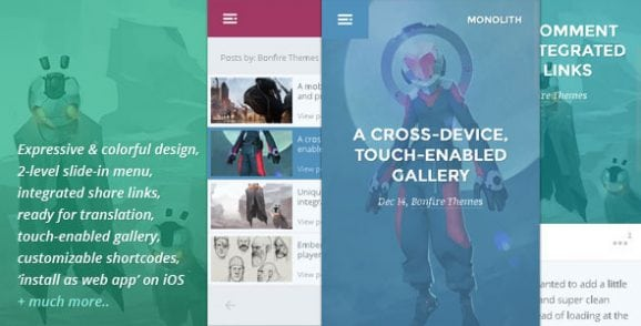 Monolith – WP theme for bloggers and professionals   Prosyscom Tech