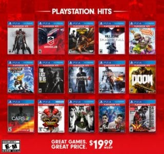playstation hits $19.99 line-up