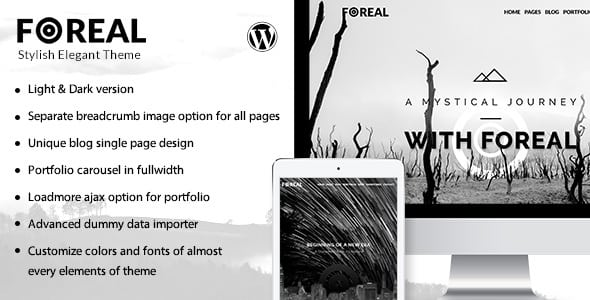 Foreal – Clean Black and White Theme | Prosyscom Tech