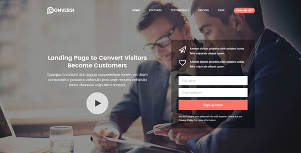Conversi – Professional Conversion WordPress Landing Page | Prosyscom Tech