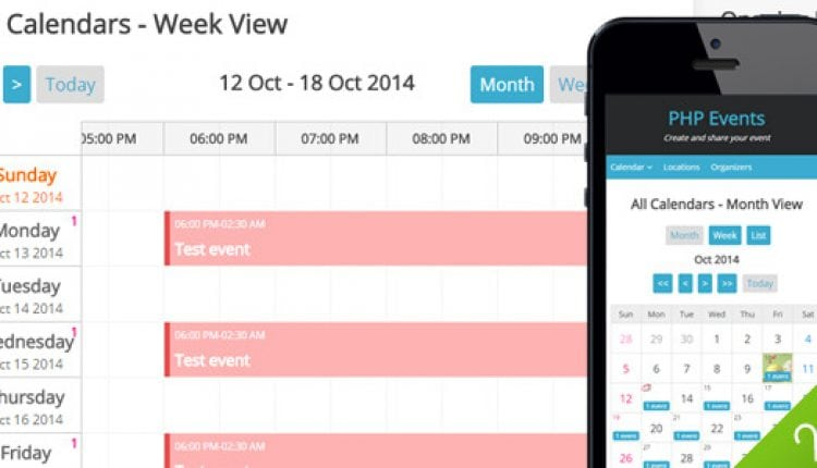 PHP LBEvents – Events Calendar | Prosyscom Tech