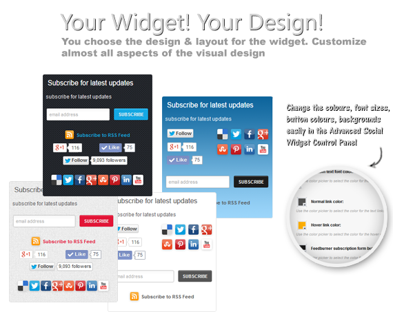 Your widget! Your design