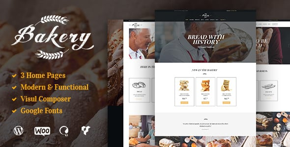 Bakery, Cafe & Pastry Shop WordPress Theme | Digital Market